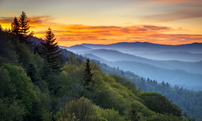 Beautiful-view-of-Smoky-Mountain-National-Park